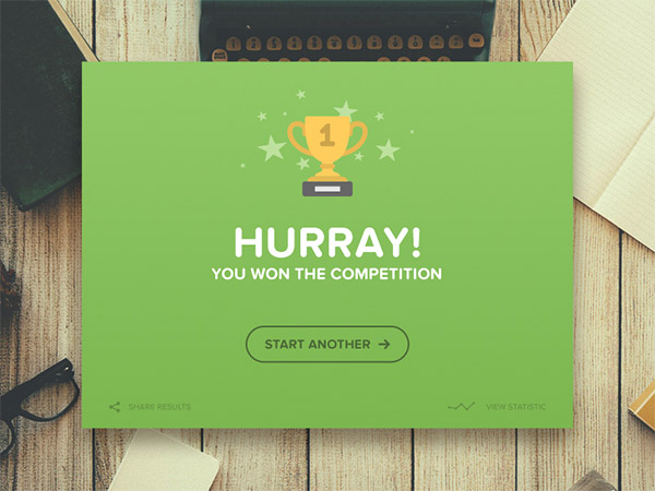 winner flash message