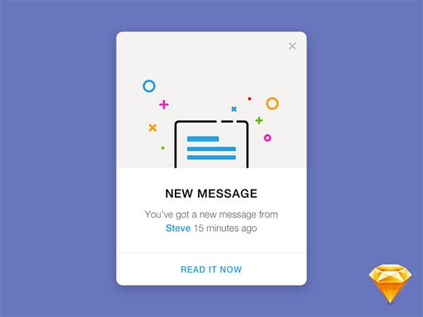 minimal notification design