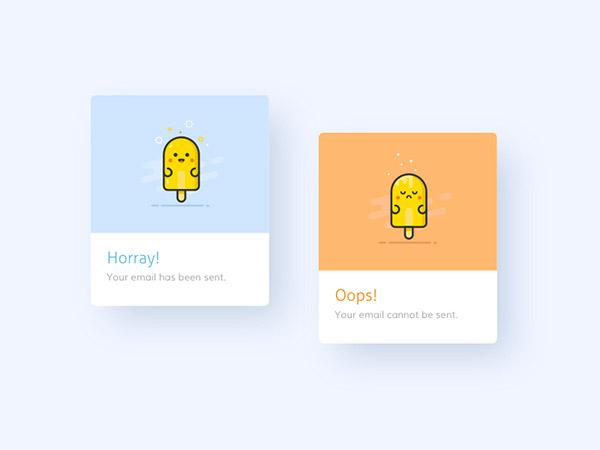minimal message box design